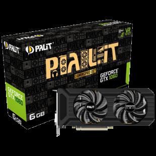 Palit GTX1060 GamingPro OC+, 6GB DDR5, DVI, HDMI, 3 DP, 1746MHz Clock