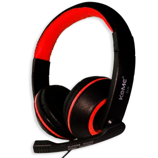 Komc Km-B6 Over-Ear Bass Headphones - Red