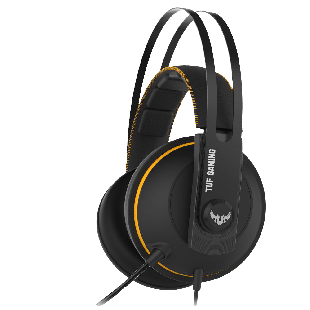 Asus TUF Gaming H7 Core Gaming Headset, 53mm Driver, 3.5mm Jack, Boom Mic, Stainless-Steel, Yellow