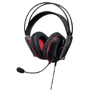 Asus CERBERUS Gaming Headset, 60mm Drivers, Full-size Cushions, Dual-mic, Braided Cable