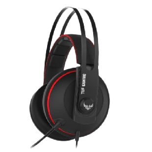 Asus TUF Gaming H7 7.1 Gaming Headset, 53mm Driver, 3.5mm Jack (USB Adapter), Boom Mic, Virtual Surround, Stainless-Steel Headband