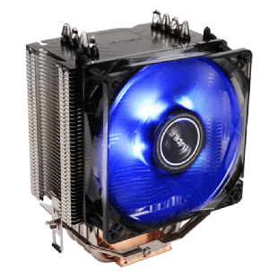Antec C40, Intel & AMD Sockets, Whisper-Quiet 9.2CM, Rifle Bearing PWM Heatsink & Fan - Black with a Blue LED
