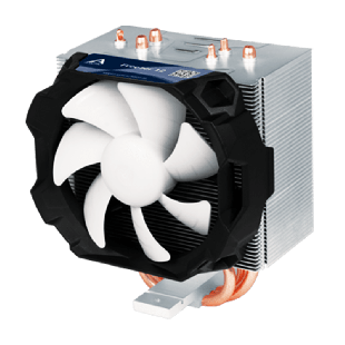 Arctic Freezer 12 Compact Semi Passive Heatsink & Fan, Intel & AM4 Sockets, Fluid Dynamic Bearing - Black & White