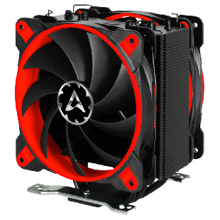 Arctic Freezer 33 eSports Edition, Intel & AM4 Sockets, 2 X Fans, Fluid Dynamic Bearing, Heatsink & Fan - Black & Red