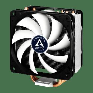 Arctic Freezer 33 Plus Semi Passive Heatsink & Fan, Intel & AM4 Sockets, Dual Ball Dynamic Bearing - Black & White