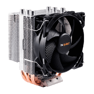 Be Quiet! BK009 Pure Rock Heatsink & Fan, Intel & AMD Sockets, 120MM PWM Fan - Black