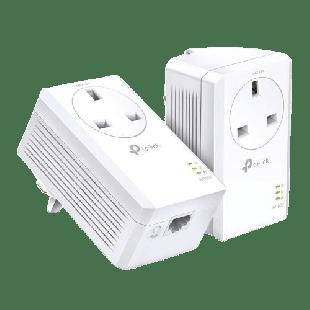 Brand New TP-LINK (TL-PA7017P KIT) AV1000 GB Powerline Adapter Kit, 1-Port/ AC Pass Through