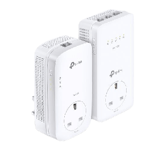 Brand New TP-LINK (TL-WPA8631P KIT) AC1200 Wireless Dual Band Powerline Adapter Kit/ AV2 1300/ AC Pass Through/ 3-Port