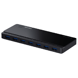 TP-Link (UH720) External 7-Port USB 3.0 Hub, Hot Plugging, 2 x 5V/2.4A Charging Ports - Black