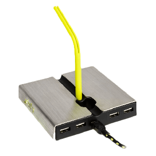 Xtrfy Mouse Bungee with 4-Port USB Hub -Yellow