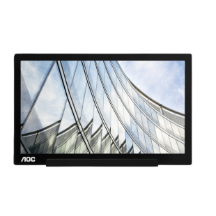 Brand New AOC I1601FWUX 15.6-inch Widescreen IPS LED Glossy USB Monitor-Black (1920x1080/5ms/USB)