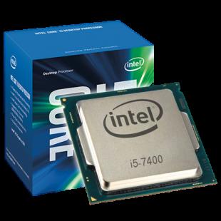 Intel Core I5-7400 CPU, 1151, 3.0 GHz, Quad Core, 65W, 14nm, 6MB Cache, HD GFX, 8 GT/s, Kaby Lake