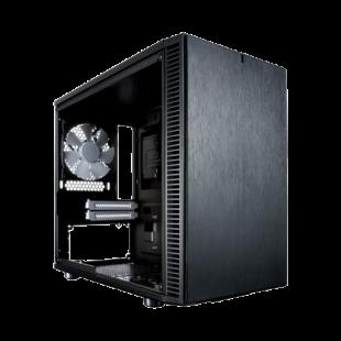 Fractal Design Define Nano S (Black Solid) Quiet PC Case, Mini ITX, 2 Fans, ATX PSU & 315mm GPU Support, 280mm Watercooling, Up to 4 HDD/SSD