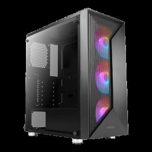 Antec NX320 ARGB Gaming Case w/ Glass Window, ATX, 3 ARGB Fans, LED Control Button, 360mm Radiator Support