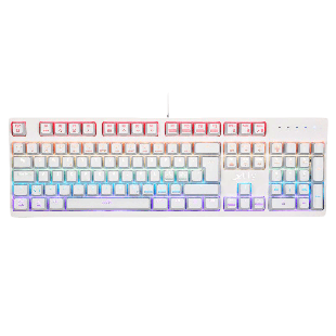 Xtrfy K2-RGB Mechanical Gaming Keyboard, Kailh Red Switches, RGB Lighting, Unlimited Anti Ghosting Keys, White