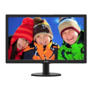 "Philips 23.6"" LED Monitor (243V5LHSB), 1920 x 1080, 1ms, VGA, DVI, HDMI, Eco-friendly"