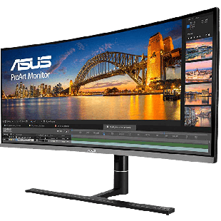 "Asus ProArt 34.1"" UWQHD Ultra-wide Curved Professional Monitor (PA34VC), 3440 x 1440, 5ms, 100% sRGB, 2 HDMI, DP, USB-C, Speakers, VESA"