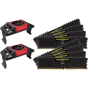 Corsair Vengeance LPX 128GB Memory Kit (8 x 16GB) with Vengeance Airflow Coolers, DDR4, 2400MHz (PC4-19200), CL14, XMP 2.0