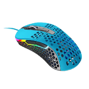 Brand New Xtrfy M4 RGB Wired Optical Gaming Mouse/USB/400-16000 DPI/Omron Switches/125-1000 Hz/Adjustable RGB/Blue