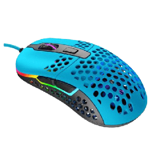 Brand New XTRFY M42 Wired Optical Ultra-Light Gaming Mouse/USB/400-16000 DPI/Omron Switches/Adjustable RGB/Modular Design/Miami Blue