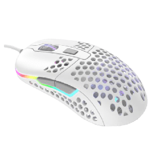 Brand New XTRFY M42 Wired Optical Ultra-Light Gaming Mouse/USB/400-16000 DPI/Omron Switches/Adjustable RGB/Modular Design/White