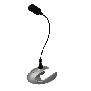 Spire Desktop Microphone, 3.5mm Jack, Black