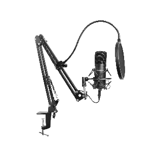 Sandberg Streamer USB Microphone Kit, USB 2.0, Pop Filter, Wind Cover, Shock Mount