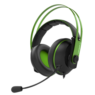Asus CERBERUS Gaming Headset V2, 53mm Drivers, Braided Cable-Green
