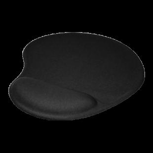 Jedel Mouse Pad with Ergonomic Wrist Rest - Black