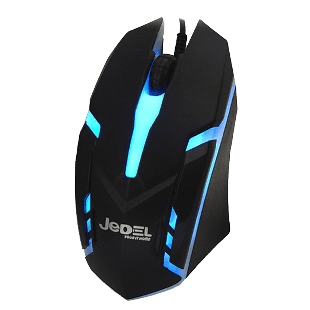 Jedel (M66) Wired Optical Gaming Mouse, 1000 DPI, USB, 7 LED - Black