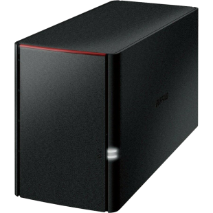 Buffalo 8TB LinkStation 220 NAS Drive, (2 x 4TB), RAID 0/1, GB LAN, NovaBACKUP, Built-in BitTorrent