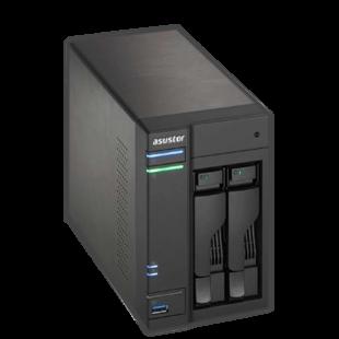 ASUSTOR AS6302T 2-Bay NAS Enclosure (No Drives), Dual Core CPU, 2GB DDR3L, HDMI, USB3 Type-C, Wake on WAN, Dual GB LAN
