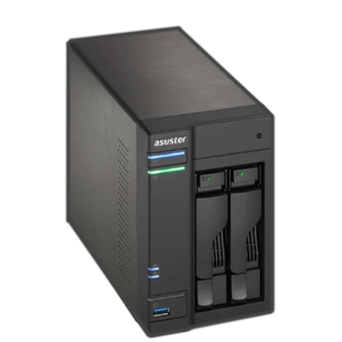 ASUSTOR AS6202T 2-Bay NAS Enclosure (No Drives), Quad Core CPU, 4GB DDR3L, HDMI, USB3 , Dual GB LAN