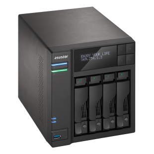 ASUSTOR AS6004U 4-Bay NAS Storage Capacity Expander, USB 3.0, Power Sync, Hot Swap, RAID, AES 256-bit Encryption
