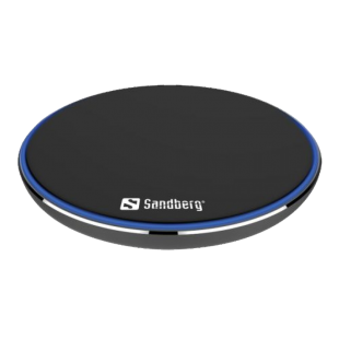 Sandberg Wireless Charging Pad, 10W, Aluminium, Micro USB, Supports Fast Charge