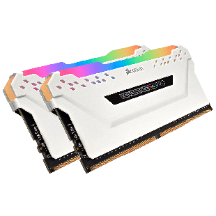 Corsair Vengeance RGB Pro 16GB Memory Kit (2 x 8GB), DDR4, 3600MHz (PC4-28800), CL18, XMP 2.0, White