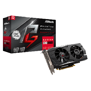 Asrock Phantom Gaming X Radeon RX570 8G OC, 8GB DDR5, PCIe3, DVI, HDMI, 3 DP, 1331MHz Clock