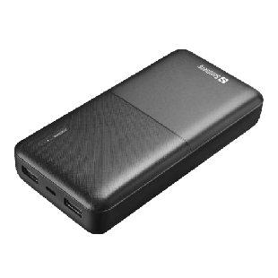 Sandberg Saver Powerbank 20000, 20,000mAh, 2 x USB-A, 5 Year Warranty