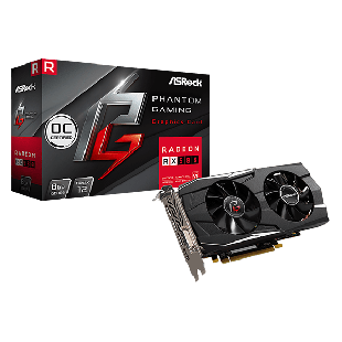 Asrock Phantom Gaming D Radeon RX580 OC, 8GB DDR5, PCIe3, DVI, HDMI, 3 DP, 1424MHz Clock