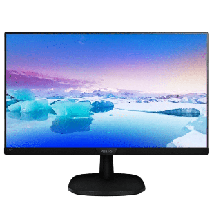 Brand New Philips 243V7QJABF 23.8-inch Widescreen IPS W-LED Multimedia Monitor-Black(1920x1080/5ms/VGA/DP/HDMI)