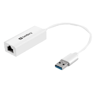 Sandberg USB 3.0 Gigabit Network Adapter - White