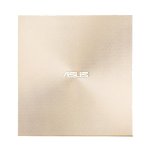 Asus (ZenDrive U9M) External Slimline DVD Re-Writer, USB-A / USB-C, 8x, Black, M-Disc Support, Cyberlink Power2Go 8, Gold