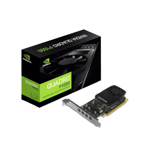 PNY Quadro P1000 Professional Graphics Card, 4GB DDR5, 4 miniDP , Low Profile (Bracket Included)