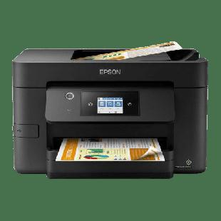 Brand New Epson WF-3820DWF Workforce Pro Wireless/USB All-in-One Inkjet Printer, Print/Scan/Copy/Fax, 4800 x 2400 DPI, 35 ppm