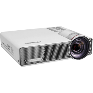 Asus P3B Portable DLP LED Projector, 1280 x 800, HDMI, MHL, VGA, 800 Lumens, 3D Ready, 12000mAh Battery
