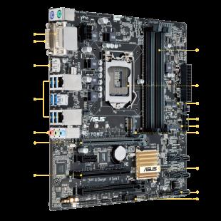 Asus Q170M2 for Enterprises, Intel Q170, 1151, Micro ATX, DDR4, Business-Grade Tech Support, M.2