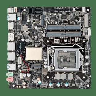 Asus Q170T, Intel Q170, 1151, Thin Mini ITX, DDR4 SODIMM, M.2, Dual GB LAN, HDMI, DP, DC Power