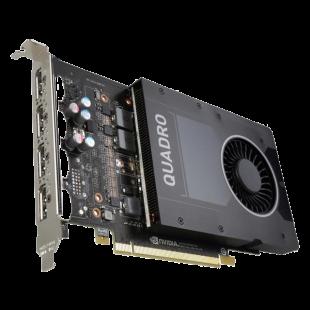PNY Quadro P2000 Professional Graphics Card, 5GB DDR5, 4 DP 1.4 (4 x DVI adapters)