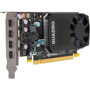 PNY Quadro P620 Professional Graphics Card, 2GB DDR5, 4 miniDP 1.4 (4 x DP adapters), Low Profile (Bracket Included)