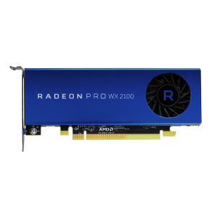 AMD Radeon Pro WX 2100 Professional Graphics Card, DP, 2 miniDP, 1219MHz, Low Profile (Bracket Included)